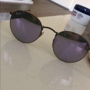 Purple round Raybans